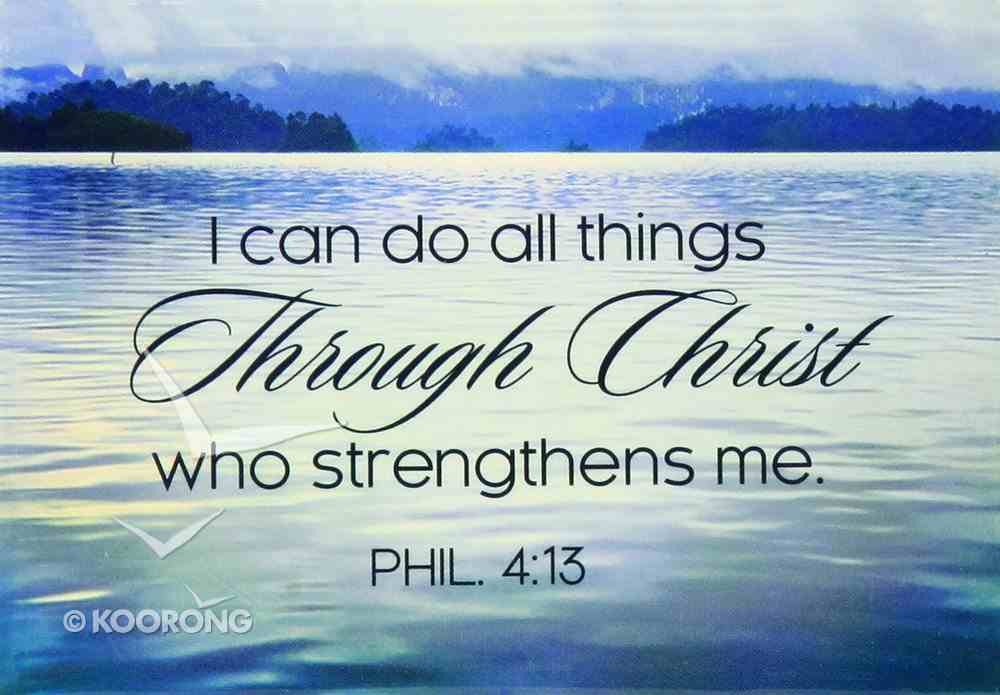 Magnet With a Message: I Can Do All Thing Through Christ Who Strengthens Me (Phil 4:13) Novelty