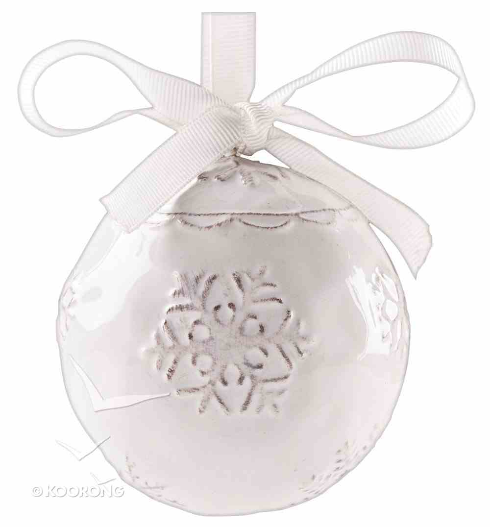Christmas Porcelain Glory Ornament Set: Bell/Ball Glory to the Newborn King Homeware
