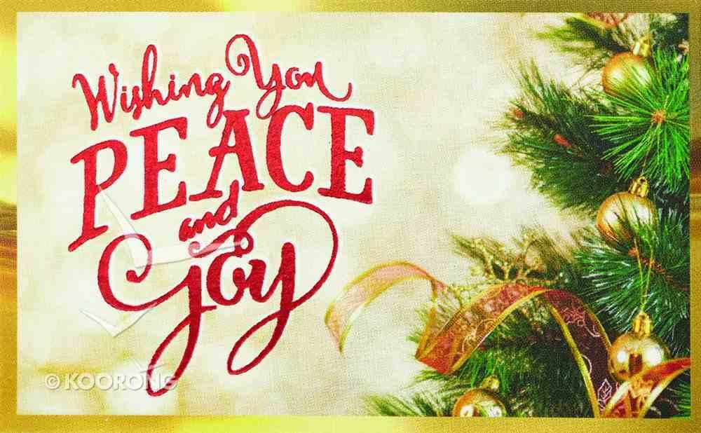 Christmas Pass-Around Cards: Peace and Joy (25 Pack) CD