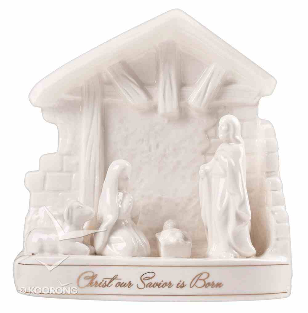Porcelain White Nativity: Christ Our Savior is Born Homeware