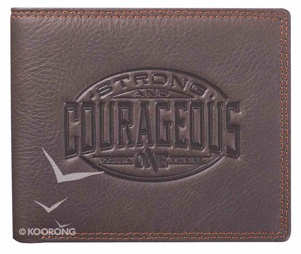 Mens Genuine Leather Wallet in Tin: Strong & Courageous Soft Goods