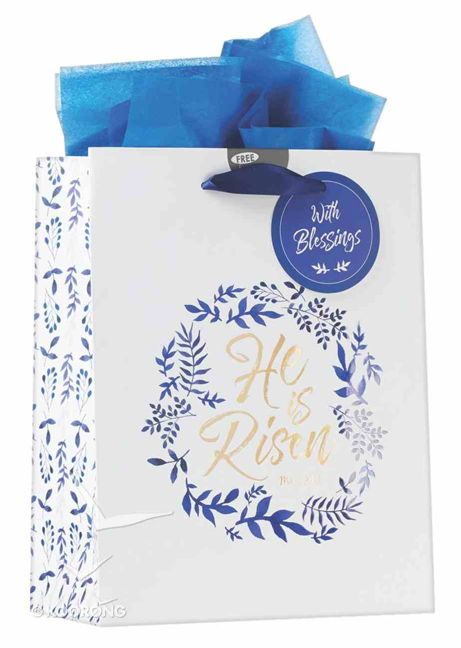 Gift Bag: He is Risen (Incl Tissue Paper & Gift Tag) Stationery