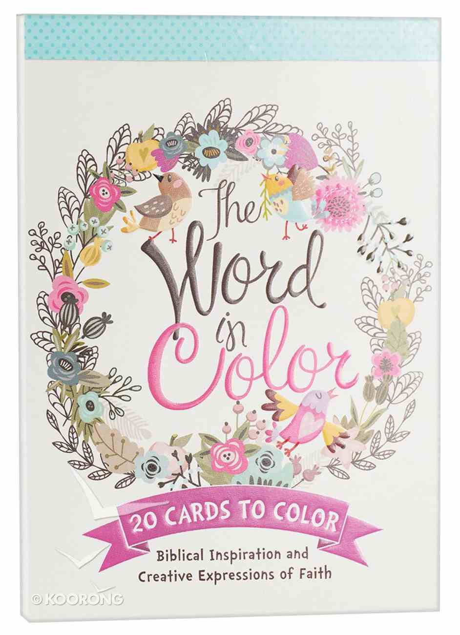 Acb: Cards to Color - the Word of Color Paperback