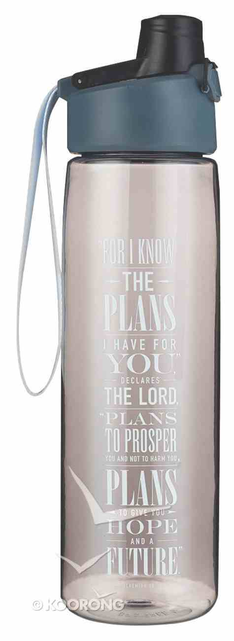 Water Bottle Gray: For I Know the Plans.. (Jer 29:11) Homeware