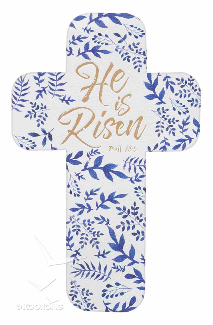 Bookmark Cross-Shaped: He is Risen Stationery