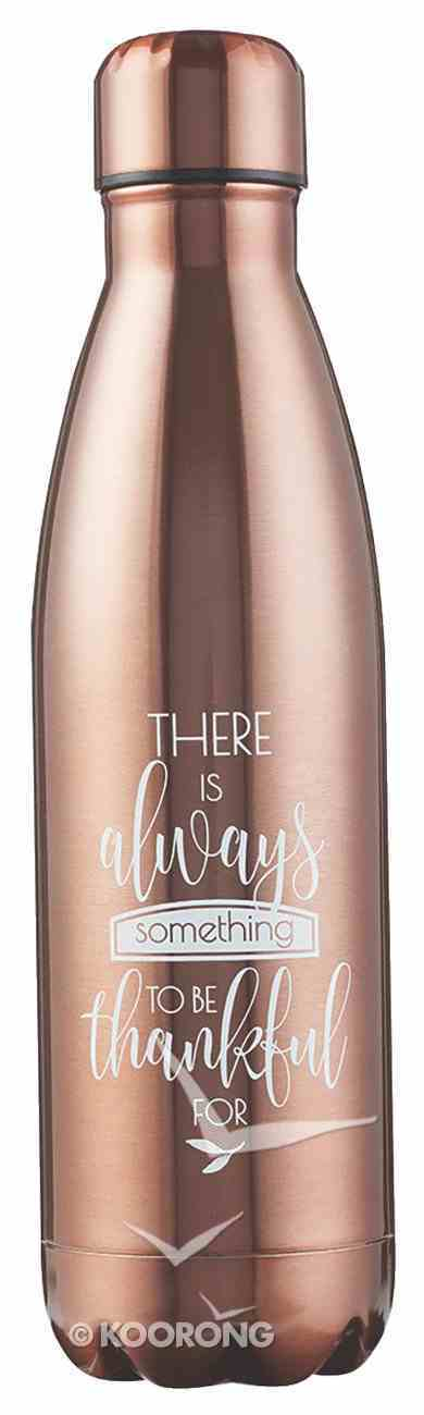 Water Bottle 500ml Stainless Steel: Thankful, Rose Gold Colour Homeware