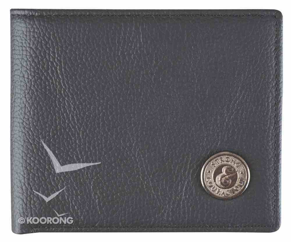 Men's Genuine Leather Wallet: Father's Day Strong & Courageous Soft Goods