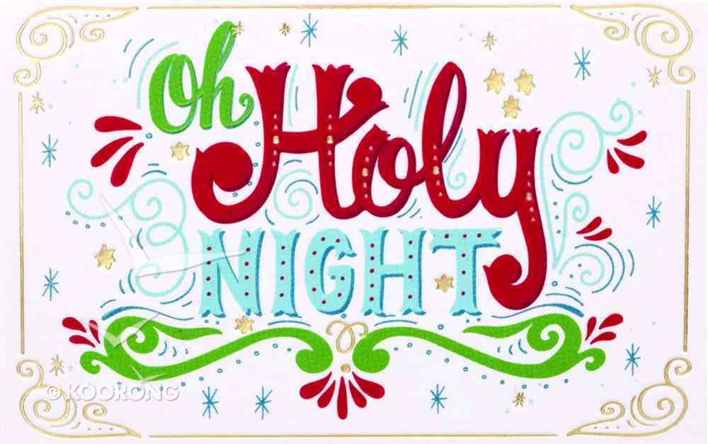 Christmas Pass-Around Cards: Oh Holy Night (25 Pack) Cards