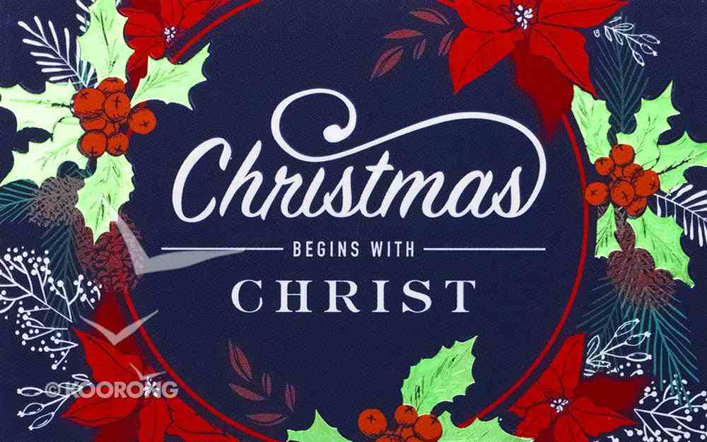 Christmas Pass-Around Cards: Christmas Begins With Christ (25 Pack) Cards