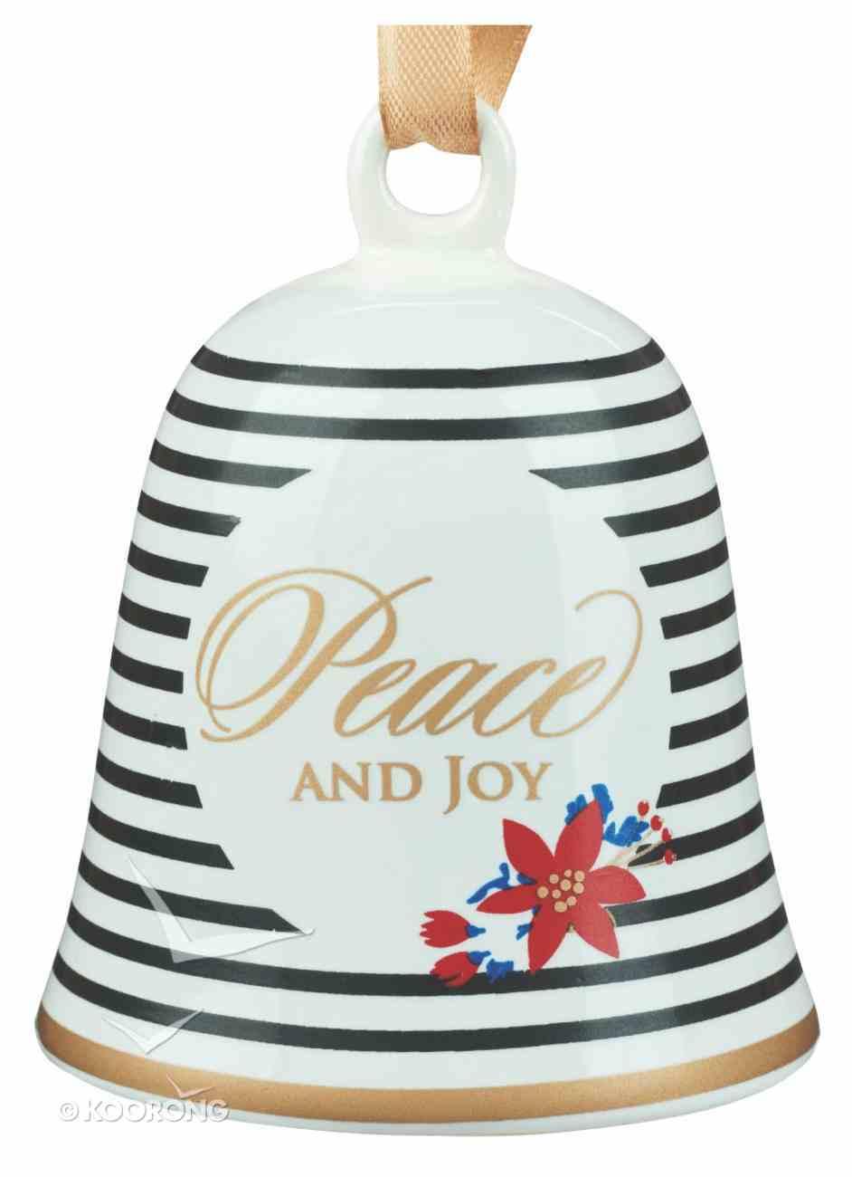 Ceramic Bell Ornament: Peace and Joy Homeware