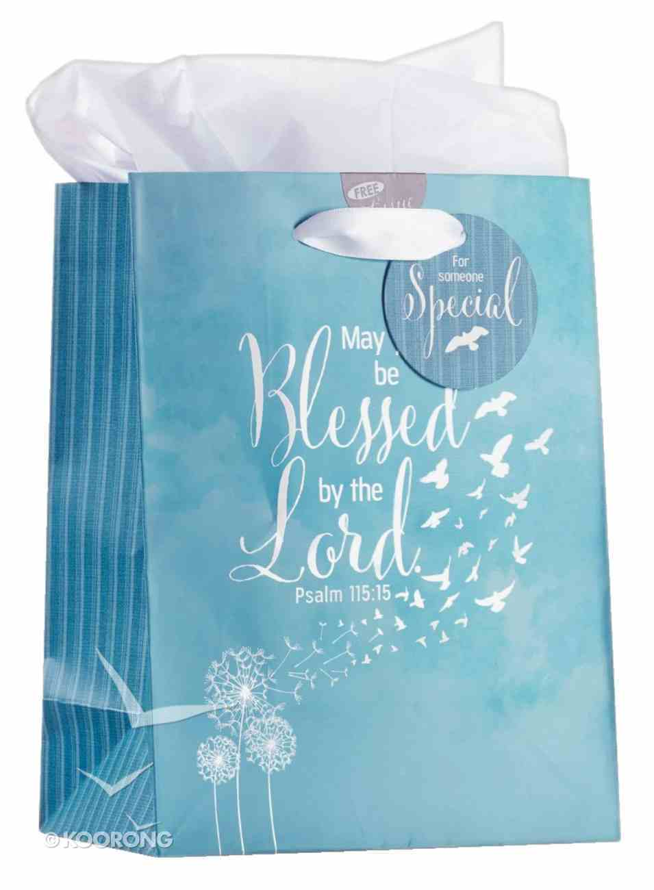 Gift Bag Medium: Soar, Blue/White Incl Tissue Paper and Gift Tag (Isaiah 40:31) Stationery