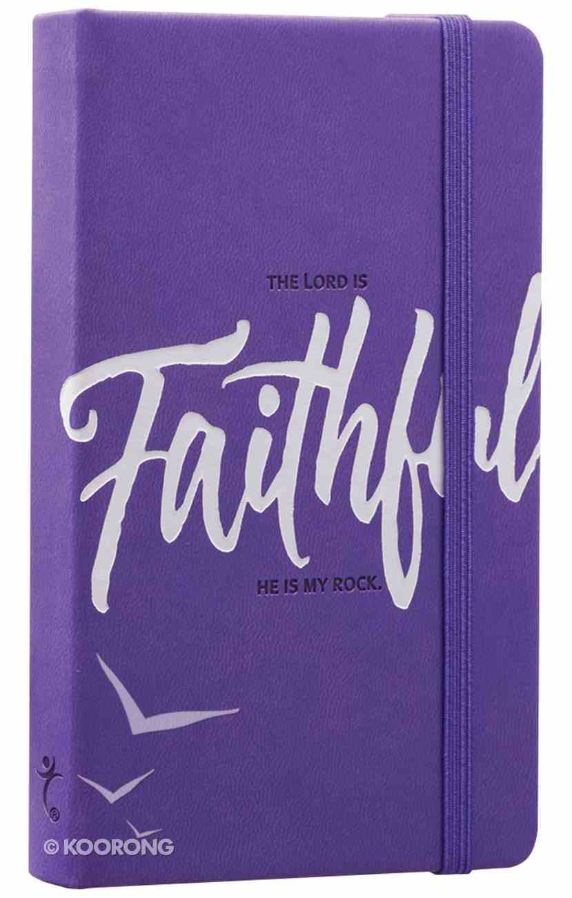 Notebook Journal: Faithful, Purple/White Luxleather Hardback