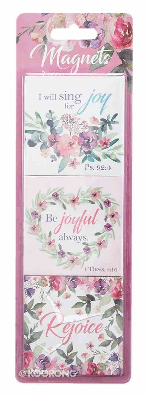Magnet Set of 3: Rejoice Collection Floral Novelty
