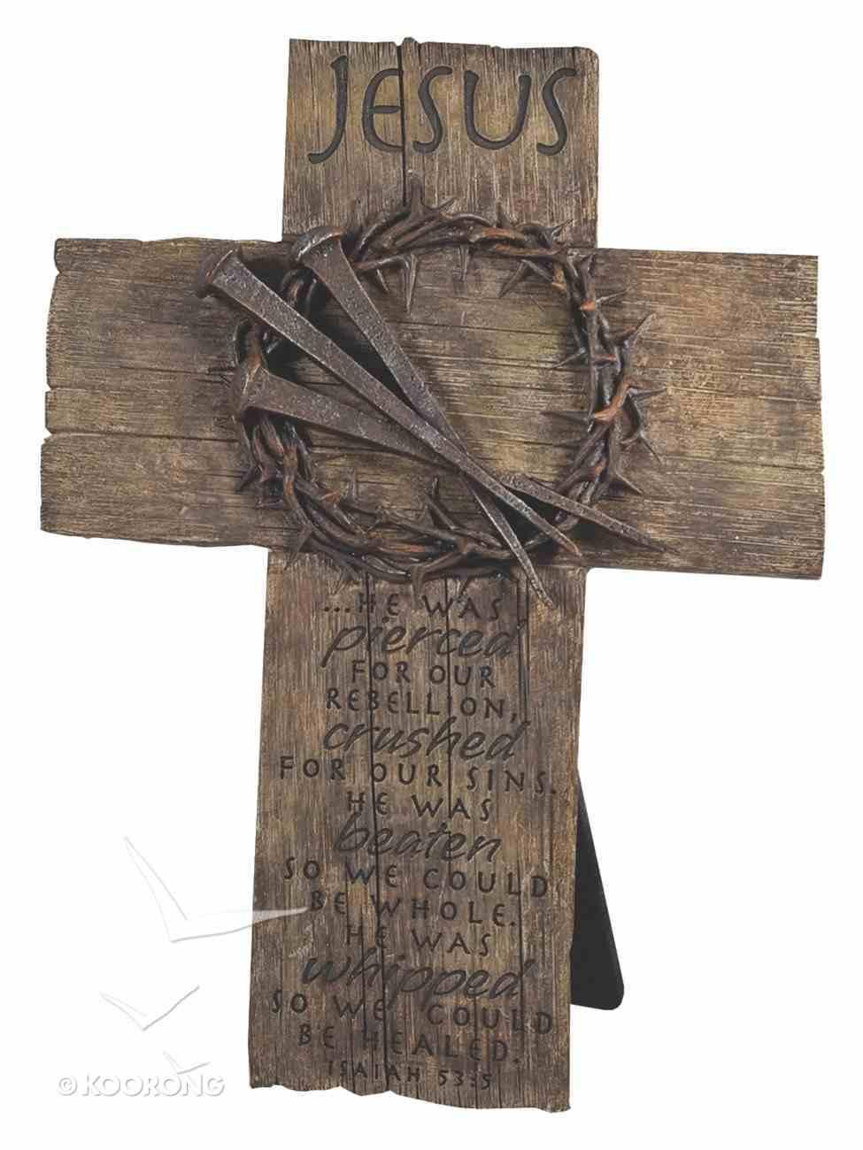 Cross Desktop: Crown of Thorns (Polyresin) Plaque