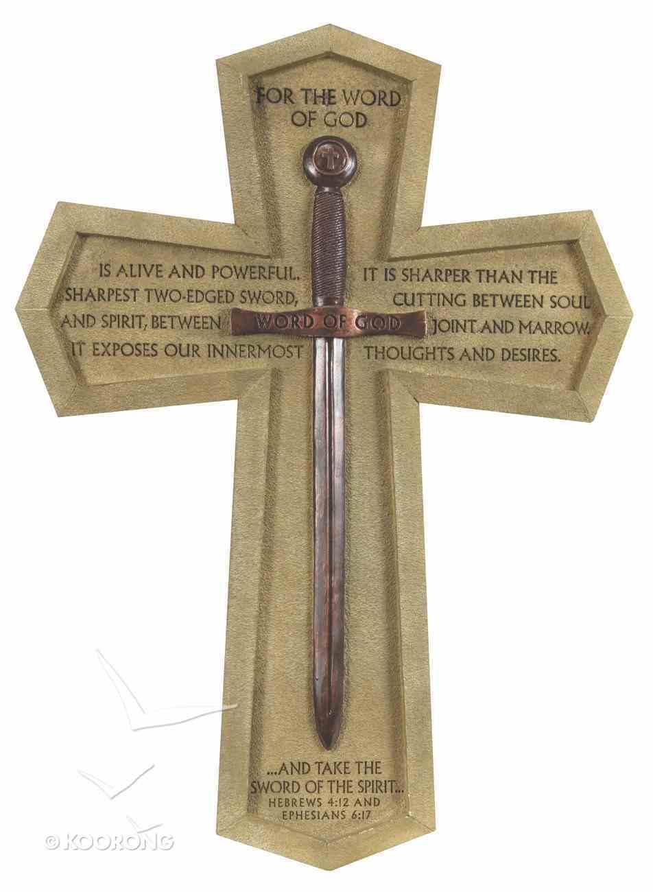 Wall Cross: Word of God Sword Large (36cm X 26cm) Plaque