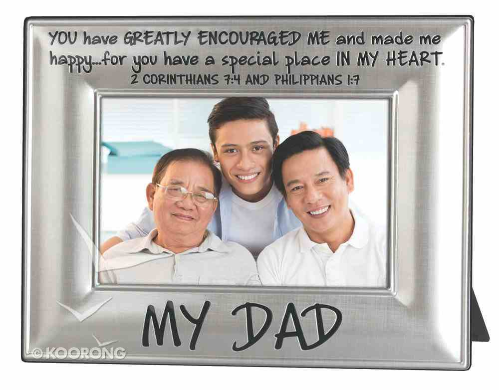 Metal Beveled Mdf Frame: My Dad, (2 Cor 7:4 & Phil 1:7) Homeware