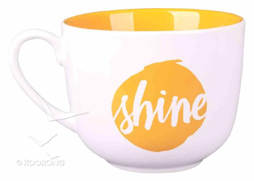 Ceramic Mug/Bowl: Shine, Yellow, Large, (Matt 5:16) Homeware