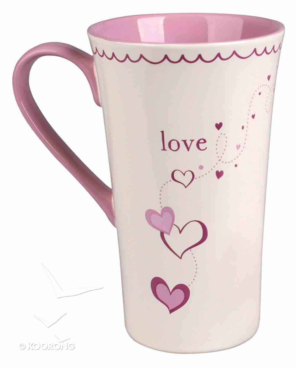 Ceramic Mug: Love, Three Things Will Last Forever - Faith, Hope, and Love - and the Greatest of These is Love Homeware