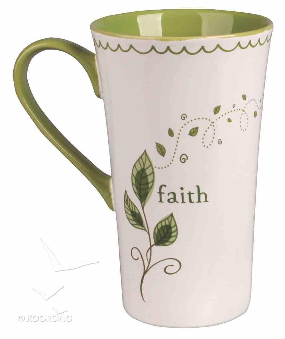 Ceramic Mug: Faith, For I Can Do Everything Through Christ Who Gives Me Strength Homeware