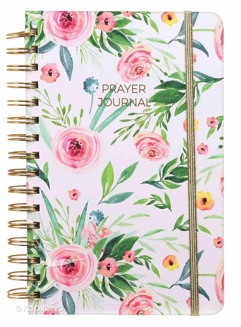 Prayer Journal: One Year Weekly Layout (Pink Floral) Spiral
