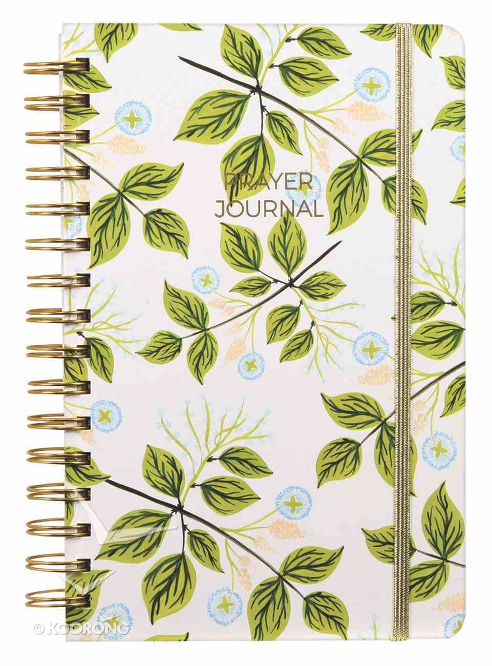 Prayer Journal: One Year Weekly Layout (Blue Floral/green Leaf) Spiral