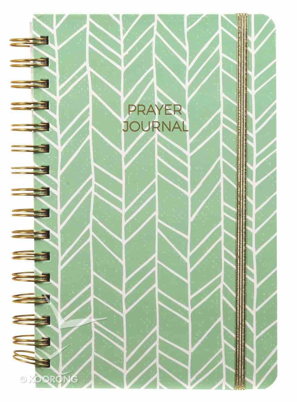 Prayer Journal: One Year Weekly Layout (Sage Design) Spiral