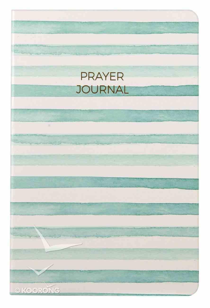 Prayer Journal: 6 Month Weekly Layout (Aqua Stripe) Paperback