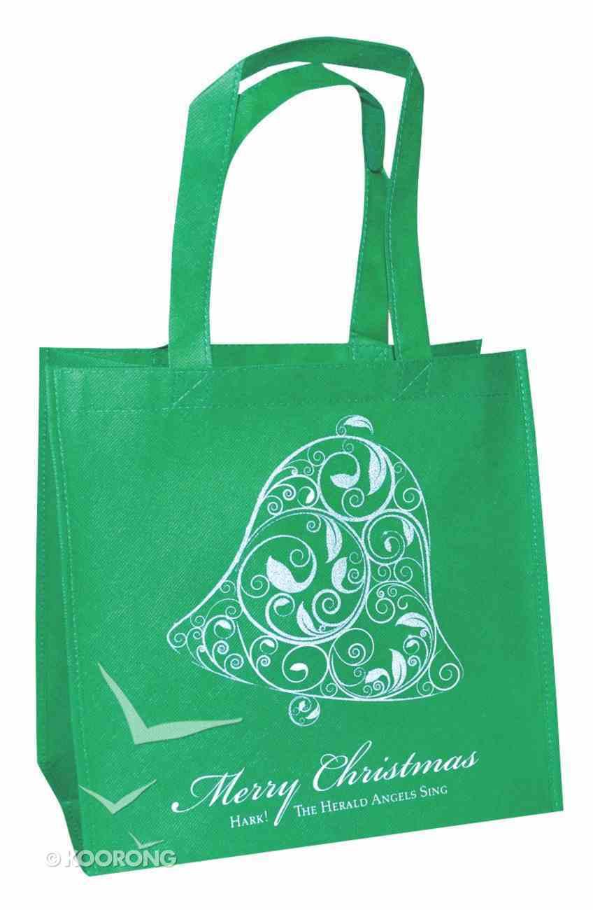 Christmas Eco Tote Bag Glitter: Merry Christmas Bell Soft Goods