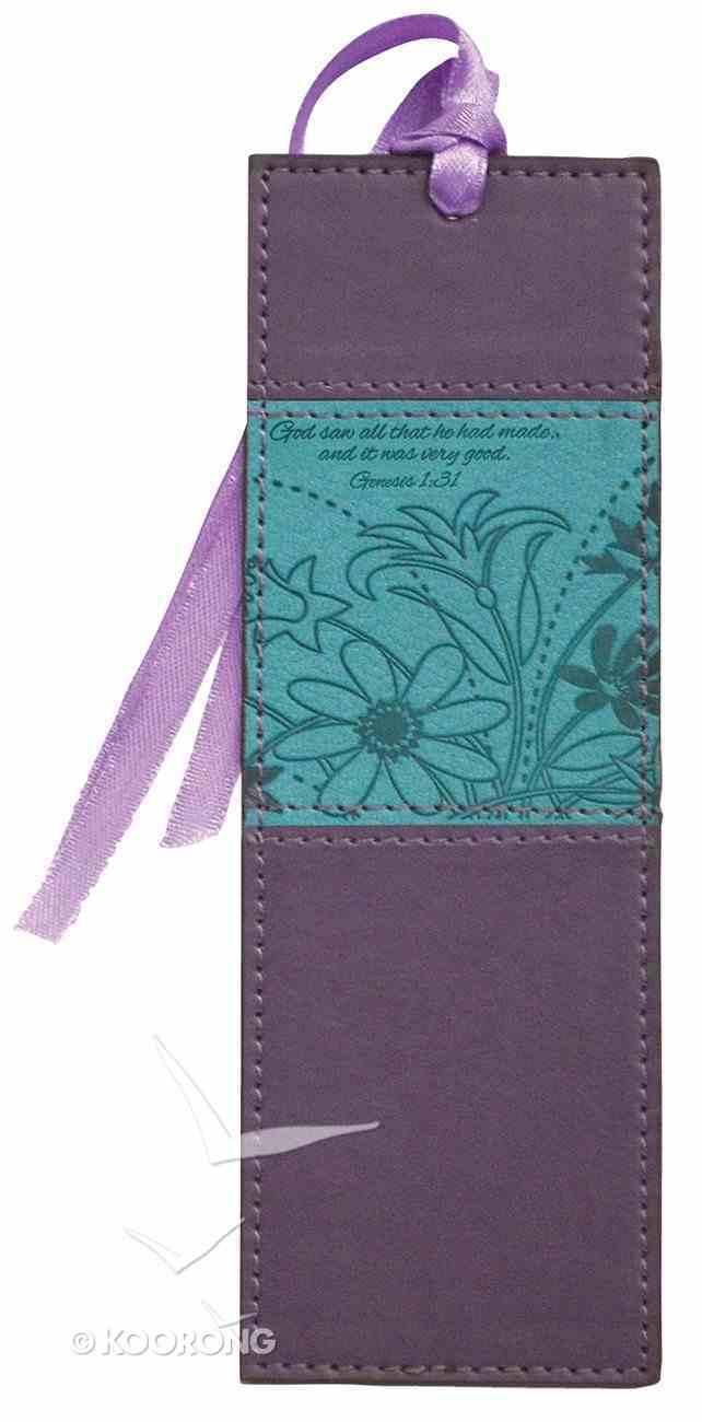 Bookmark Divine Details With Tassel: Plum/Turquoise, Gen 1:31 Novelty