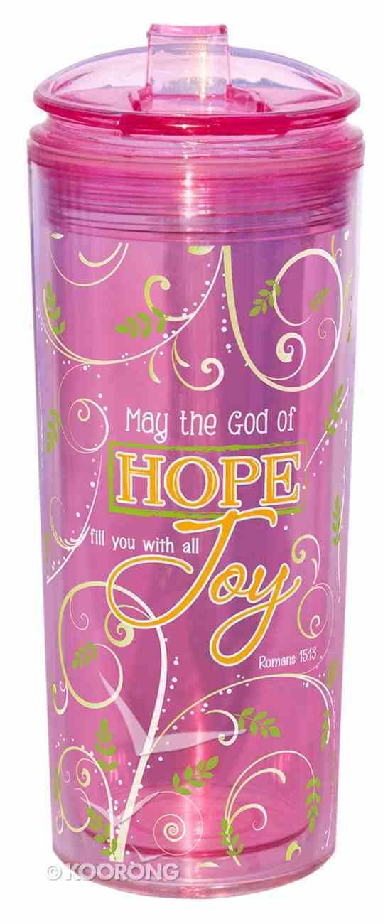 Flip Top Tumblers: May the God of Hope...Pink (Romans 15:13) Homeware