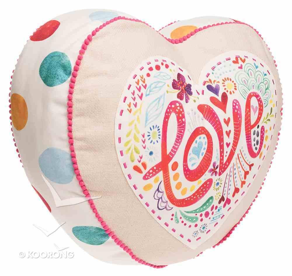 Affirmation Pillow: Love, Let Your Light Shine, Pink Soft Goods