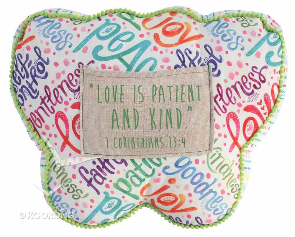Affirmation Pillow: Kindness Butterfly, Green, Let Your Light Shine Soft Goods