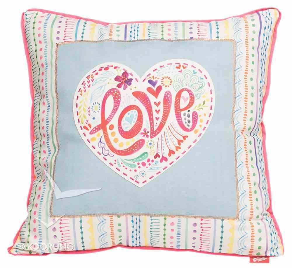 Affirmation Pillow: Love, Let Your Light Shine Soft Goods