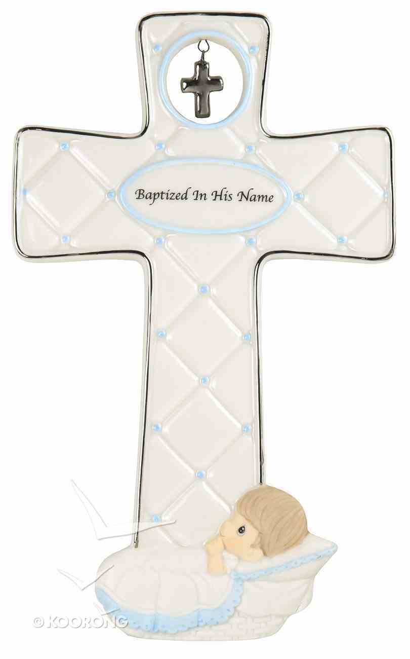 Precious Moments Cross: Boy, Baptized in His Name Homeware