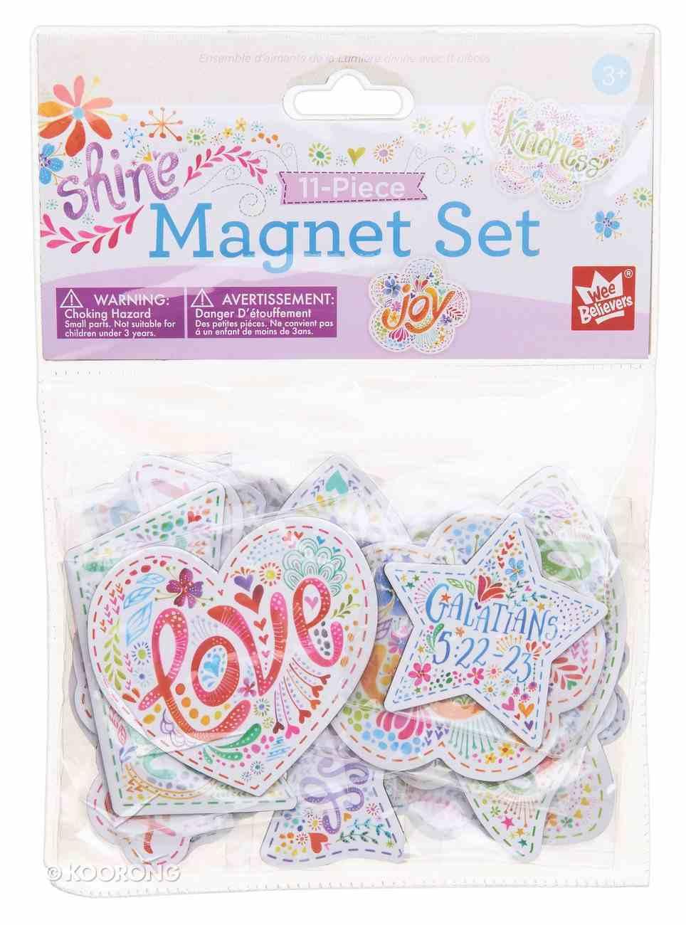 Magnet Set of 11: Let Your Light Shine Novelty