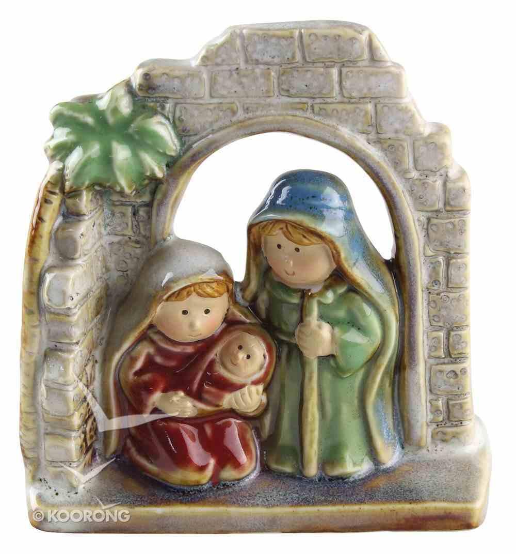 Childrens Nativity Holy Family Colour Glazed Homeware