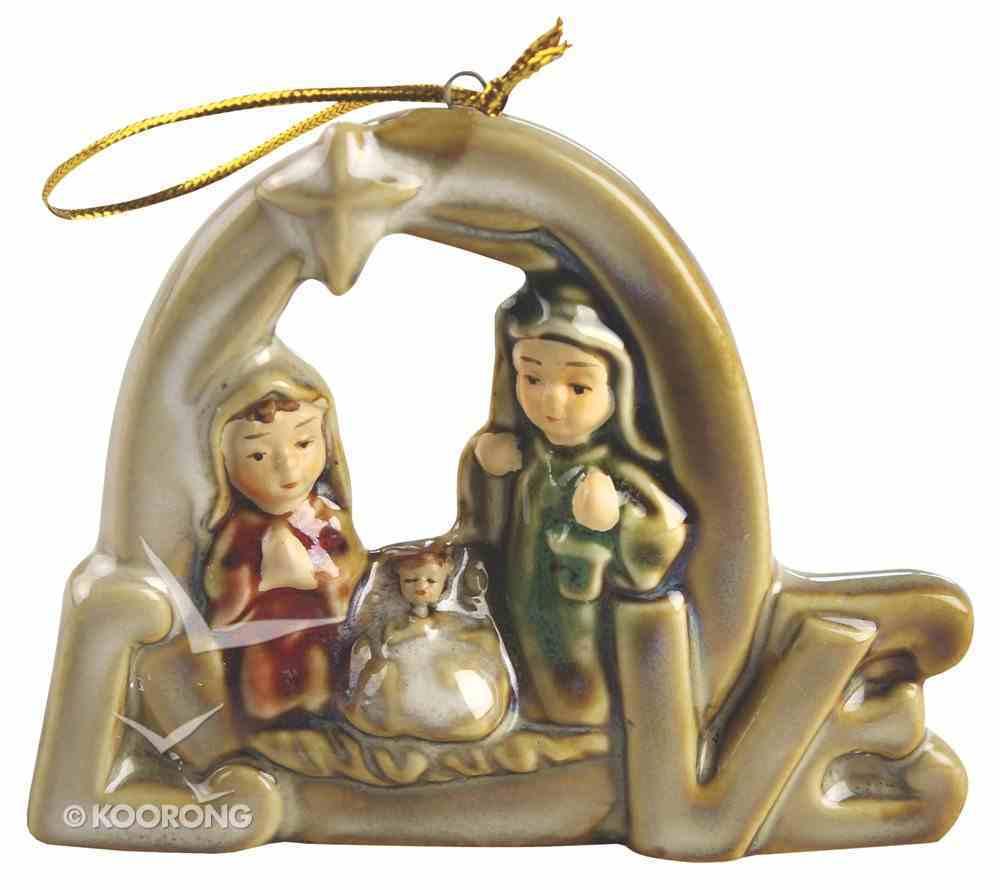 Porcelain Holy Family Tree Ornament Colour Glazed: Love Homeware