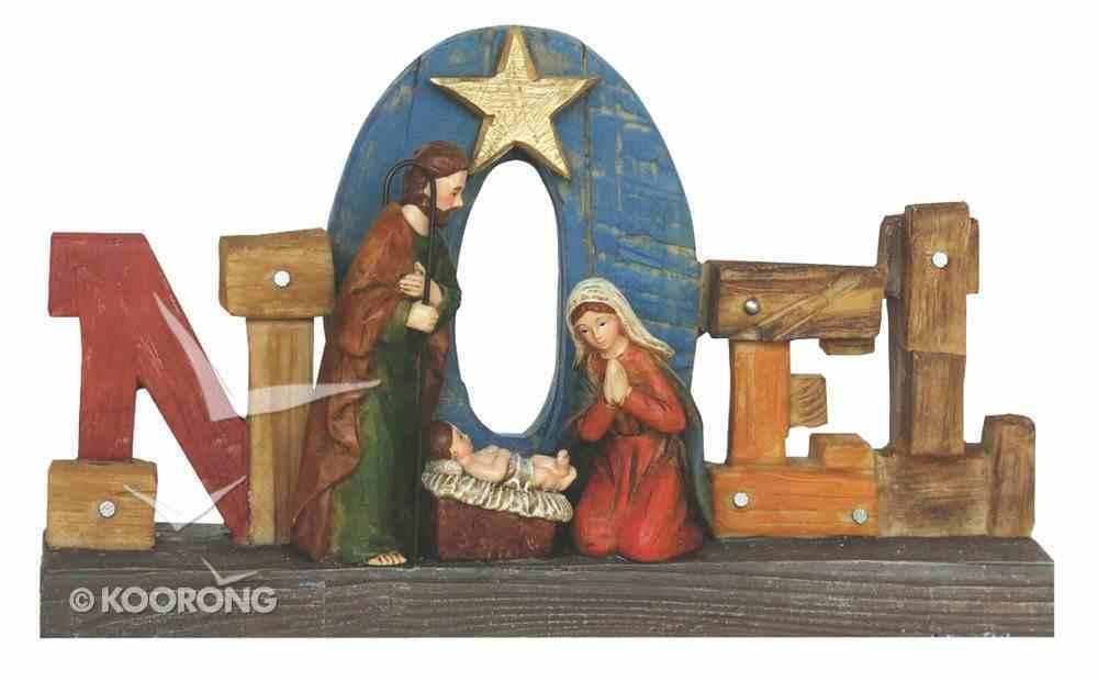 Resin Wood Look Holy Family Noel Homeware