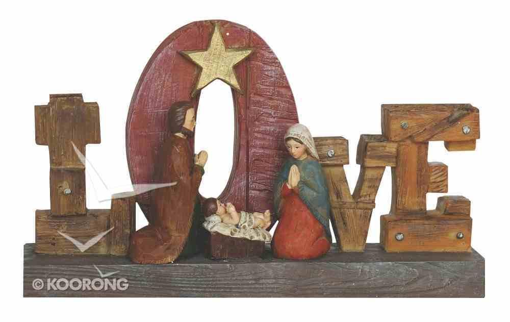 Resin Wood Look Holy Family Love Homeware