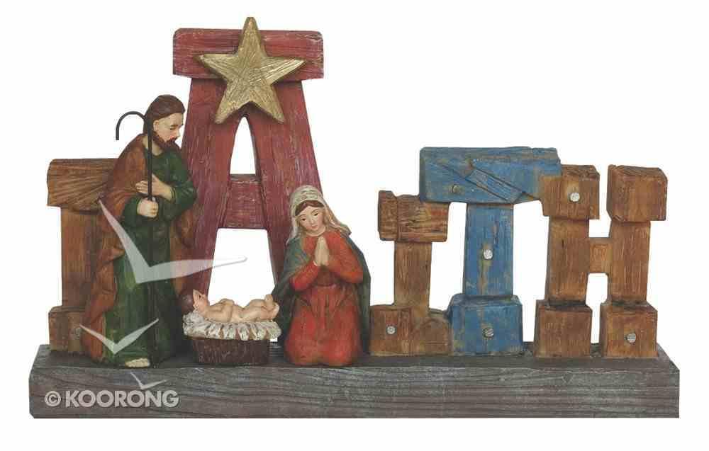 Resin Wood Look Holy Family Faith Homeware