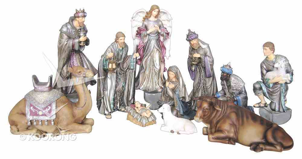 Resin Large 11 Piece Nativity Set Homeware