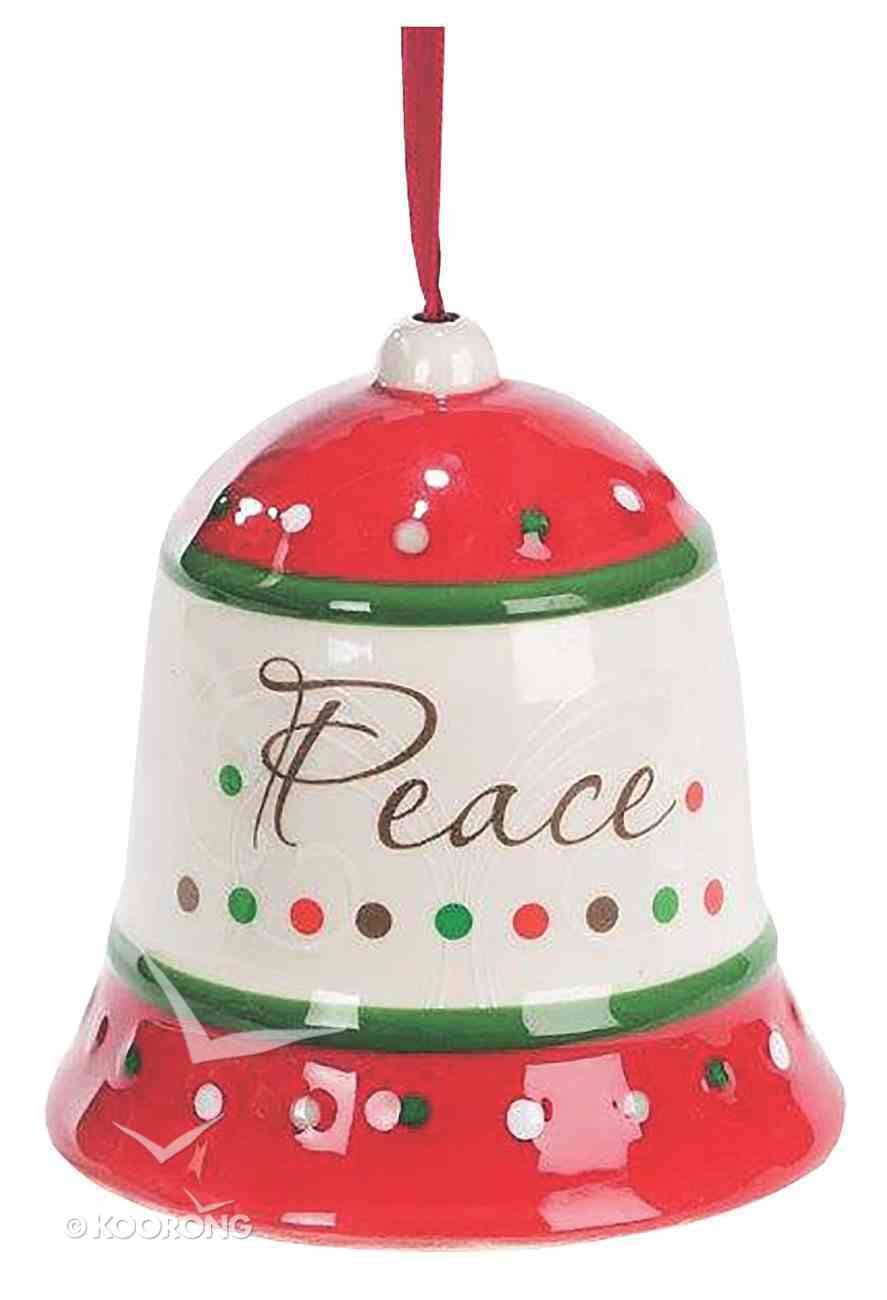 Dolomite Bell Tree Ornament: Peace, Green & Red Homeware