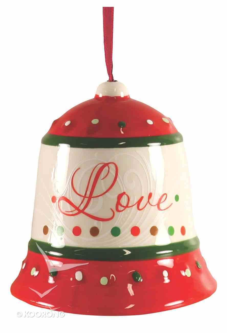 Dolomite Bell Tree Ornament: Love, Green & Red Homeware