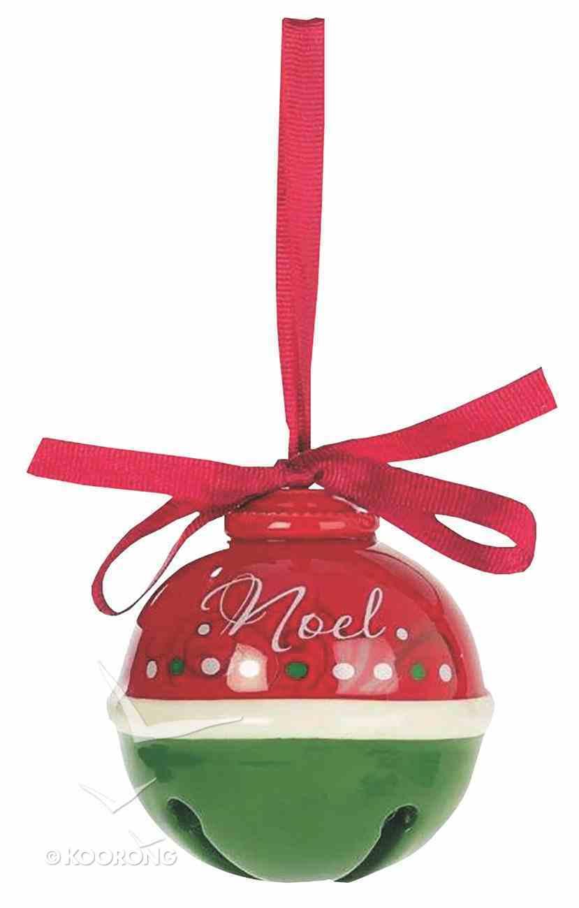 Dolomite Round Bell Tree Ornament: Noel, Red & Green Homeware