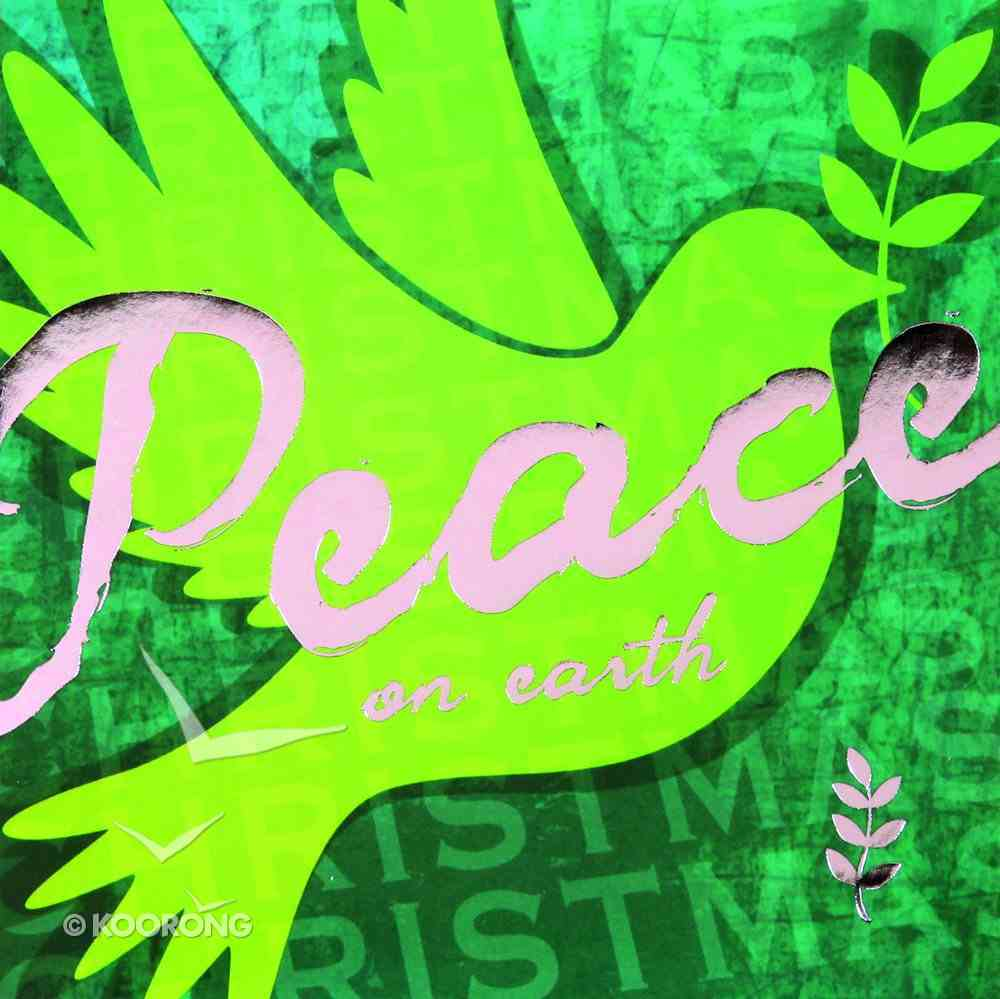 Christmas Boxed Cards Green Dove, Peace on Earth Box
