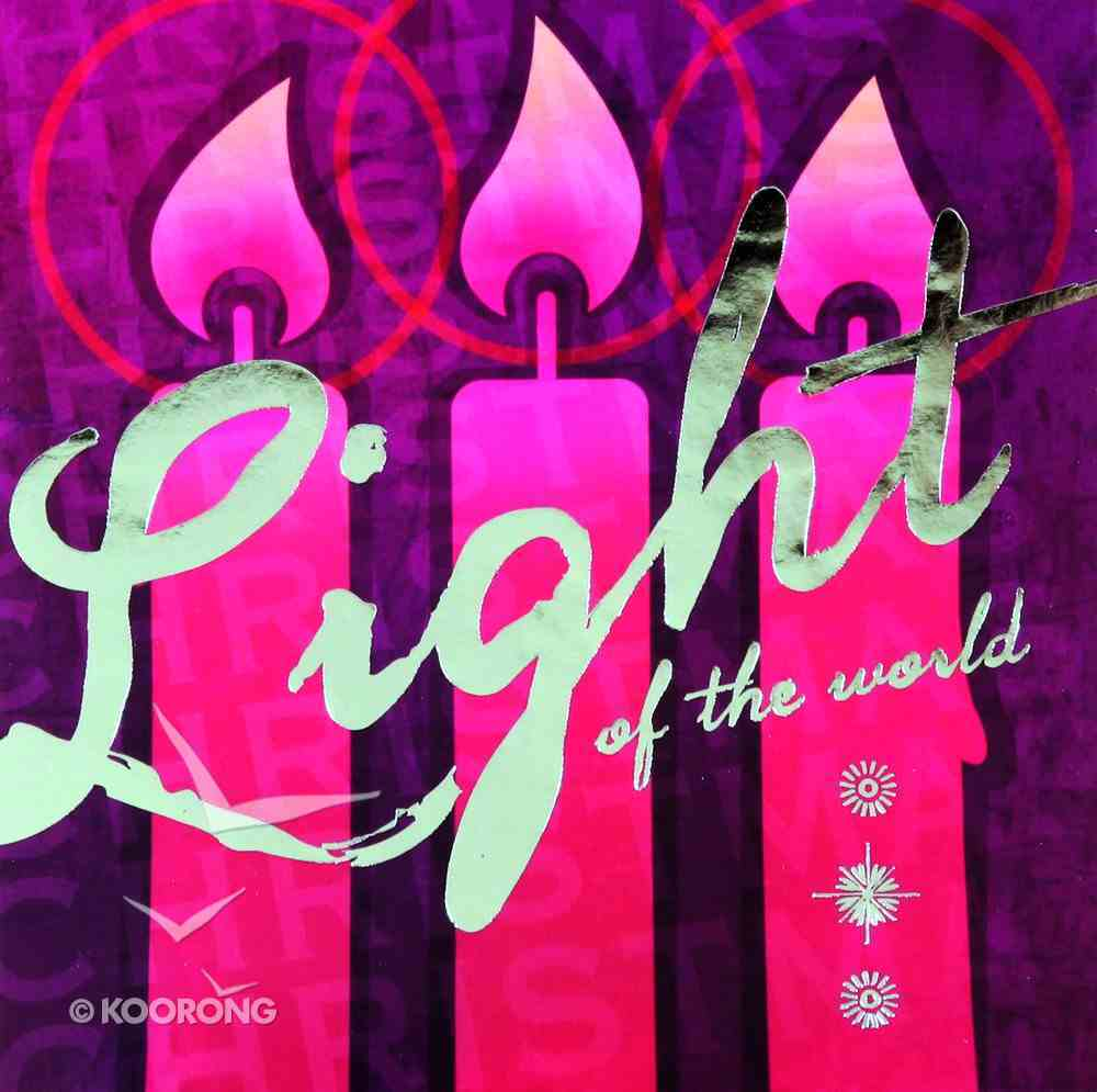 Christmas Boxed Cards Pink Candles, Light of the World Box