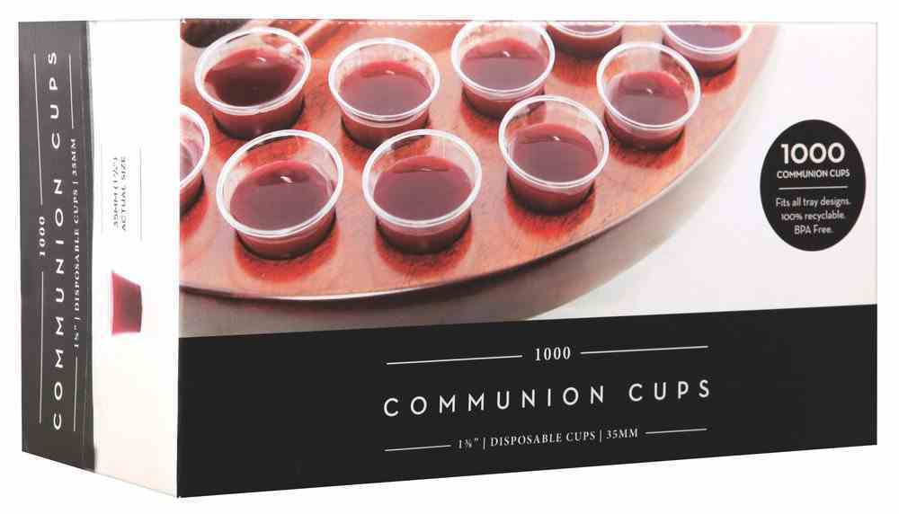 Communion Cups Clear Plastic Recyclable: Bpa Free (Box Of 1000) Box