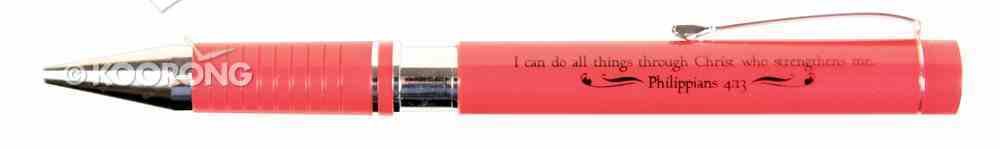 Ballpoint Pen: Red in Metal Box Stationery