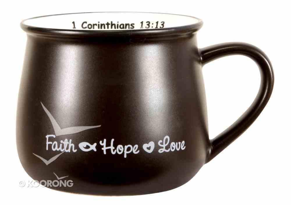 Mug: Faith, Hope & Love Black Homeware