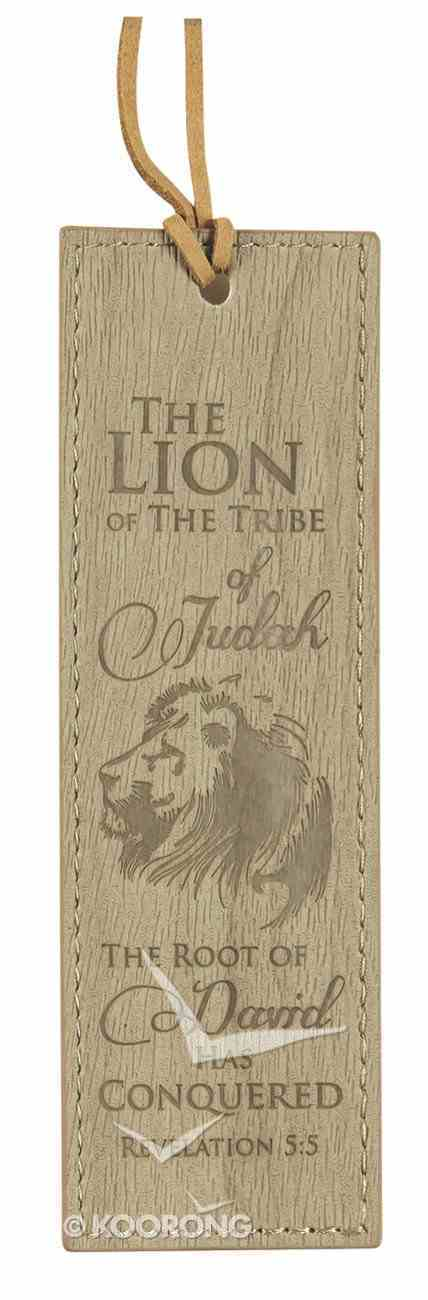 Bookmark Leather Lux: Lion the Tribe of Judah, Light Brown Stationery